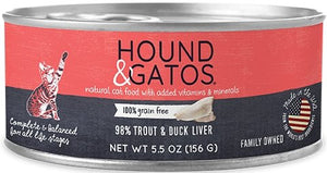 Hound & Gatos Grain Free 98% Trout & Duck Liver for Cat - Bakersfield Pet Food Delivery