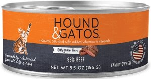 Hound & Gatos Grain Free Beef for Cat - Bakersfield Pet Food Delivery