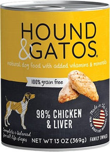 Hound & Gatos Grain Free Chicken & Chicken Liver for Dog - Bakersfield Pet Food Delivery
