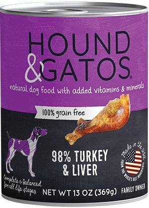 Hound & Gatos Grain Free Turkey & Turkey Liver for Dog - Bakersfield Pet Food Delivery