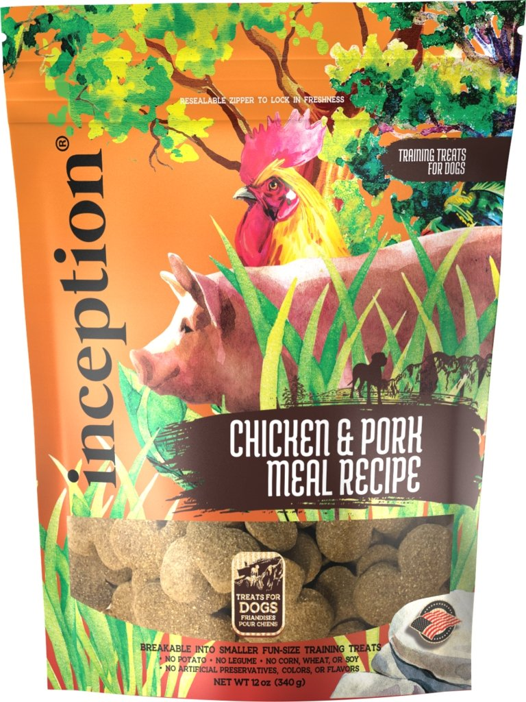 Inception Chicken & Pork Recipe Training Treat 12oz - Bakersfield Pet Food Delivery
