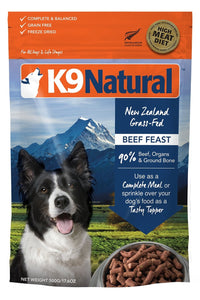 K9 Natural Freeze Dried Beef Feast - Bakersfield Pet Food Delivery