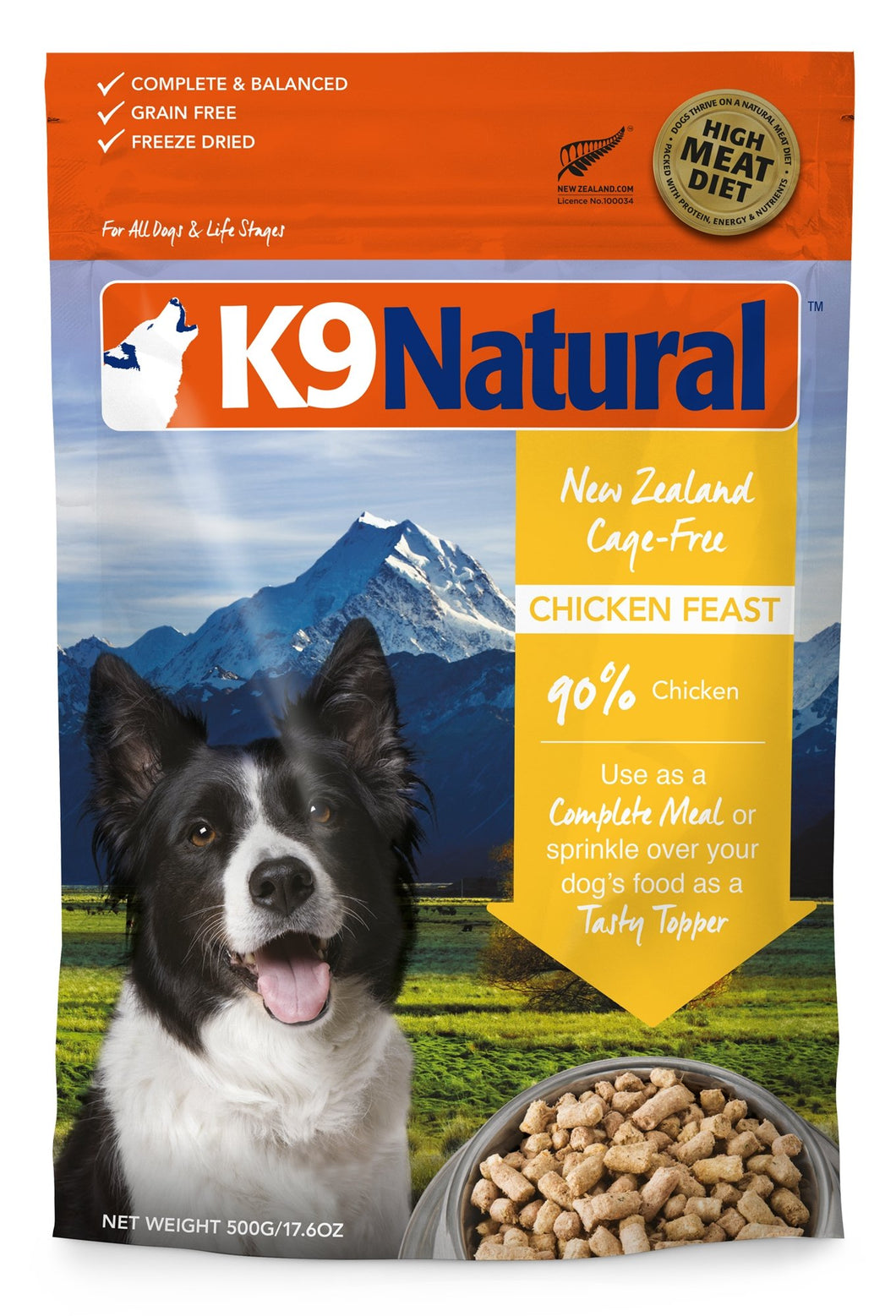 K9 Natural Freeze Dried Chicken Feast - Bakersfield Pet Food Delivery