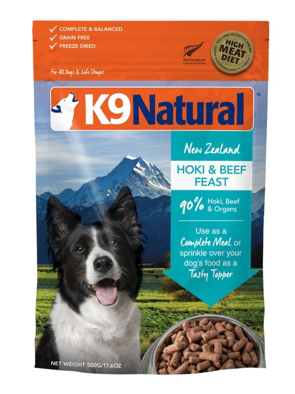 K9 Natural Freeze Dried Hoki & Beef - Bakersfield Pet Food Delivery