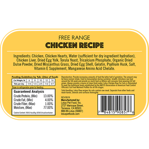 Lotus Cat Raw Food Chicken Recipe - Bakersfield Pet Food Delivery