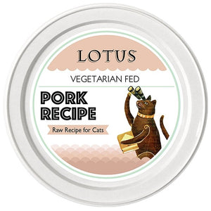 Lotus Cat Raw Food Pork Recipe - Bakersfield Pet Food Delivery
