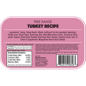 Lotus Cat Raw Food Turkey Recipe - Bakersfield Pet Food Delivery