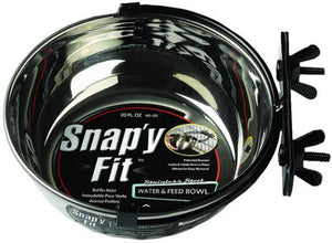Midwest Stainless Steel Snappy Fit Bowl - Bakersfield Pet Food Delivery