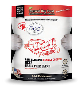 My Perfect Pet Potato-free, Grain-free Beef Blend 3.5lb - Bakersfield Pet Food Delivery