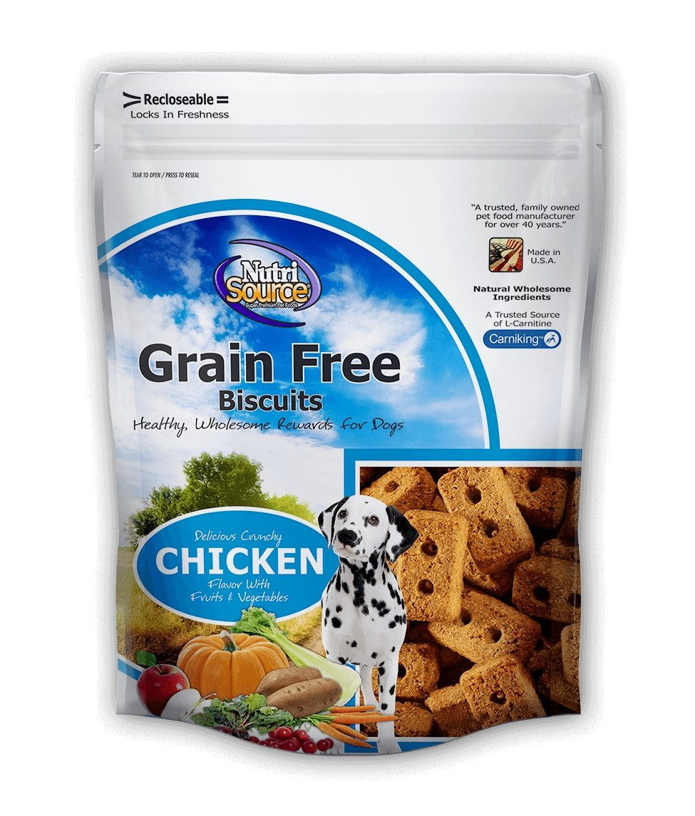 Nutrisource Grain Free Biscuits 14oz - Bakersfield Pet Food Delivery