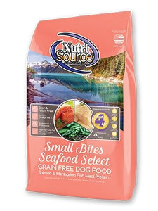 NutriSource Grain-Free Small Bite Seafood Select for Dogs - Bakersfield Pet Food Delivery