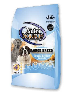 NutriSource Large Breed for Dogs Trout & Rice - Bakersfield Pet Food Delivery