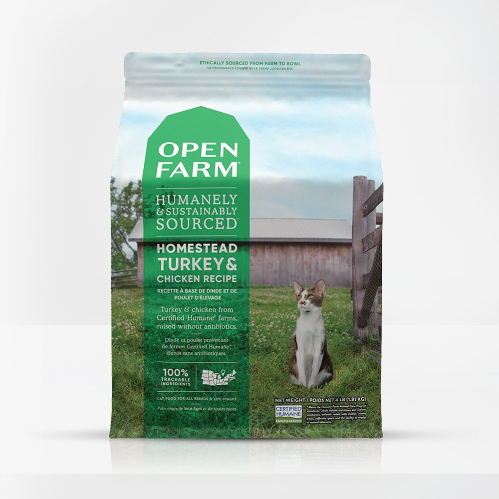 Open Farm Homestead Turkey & Chicken For Cats - Bakersfield Pet Food Delivery