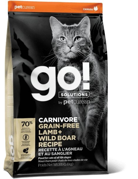 Petcurean Go! Carnivore for Cats Lamb + Wild Boar Recipe - Bakersfield Pet Food Delivery