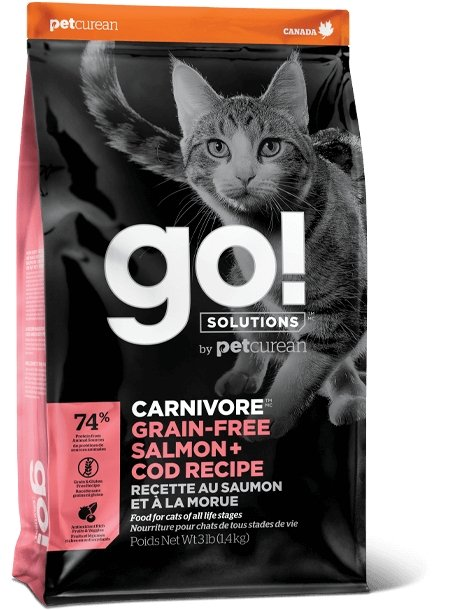 Petcurean Go! Carnivore for Cats Salmon + Cod Recipe - Bakersfield Pet Food Delivery