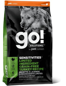 Petcurean GO! Solutions Sensitivities LIMITED INGREDIENT Grain Free Turkey Recipe - Bakersfield Pet Food Delivery