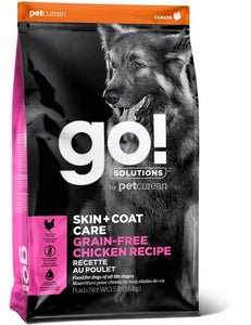 Petcurean Go! Solutions Skin + Coat Care Grain Free Chicken Recipe - Bakersfield Pet Food Delivery