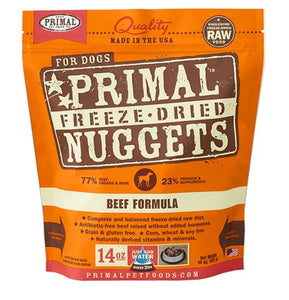 Primal Raw Freeze-Dried Beef Formula - Bakersfield Pet Food Delivery