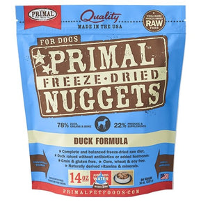 Primal Raw Freeze-Dried Duck Formula - Bakersfield Pet Food Delivery