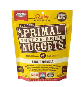 Primal Raw Freeze-Dried Rabbit Formula - Bakersfield Pet Food Delivery