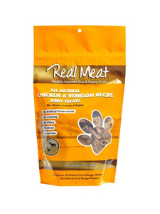The Real Meat Company Chicken & Venison Jerky Treat - Bakersfield Pet Food Delivery