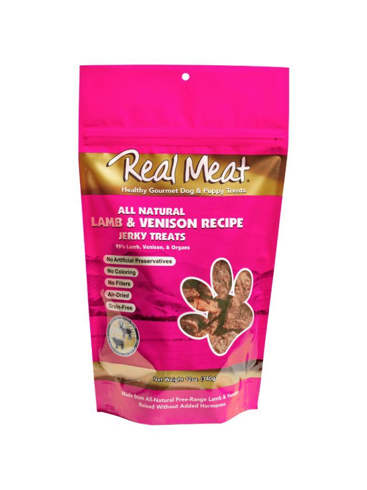 The Real Meat Company Lamb & Venison Jerky Treat - Bakersfield Pet Food Delivery