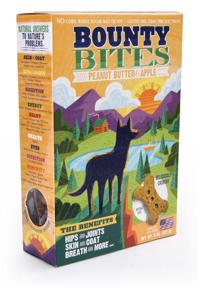 Wild Meadow Bounty Bites Peanut Butter & Apple Biscuits 8oz - Bakersfield Pet Food Delivery