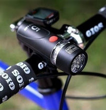 Load image into Gallery viewer, 1pcs Lamp Black Bike Bicycle 5 LED Power Beam