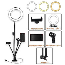 Load image into Gallery viewer, 8inch LED Ring Light kit for Makeup Tutorial YouTube Video Live Stream