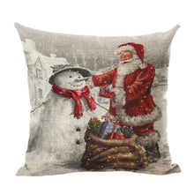 Load image into Gallery viewer, Christmas Pillow Case Car Sofa Waist Throw Cushion