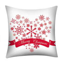 Load image into Gallery viewer, Christmas Print Pillow Case Polyester Sofa Car