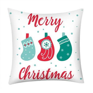 Christmas Print Pillow Case Polyester Sofa Car