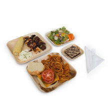 "Load image into Gallery viewer, Palm Leaf Plates Square Dinner ALL SIZES Plates 4""-10"" Inch (Set of 4)"