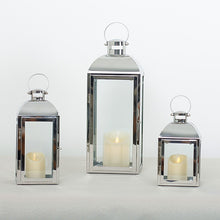 Load image into Gallery viewer, Stainless Steel Glass Candlestick Candle Holders