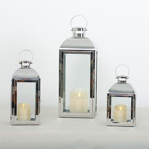 Stainless Steel Glass Candlestick Candle Holders