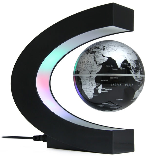 LED World Map Light Floating Globe