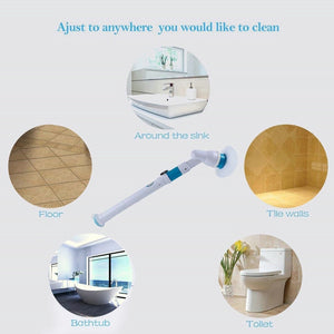 Turbo Scrub Electric Cleaning Brush Adjustable