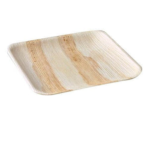 "Palm Leaf Plates Square Dinner ALL SIZES Plates 4""-10"" Inch (Set of 4)"