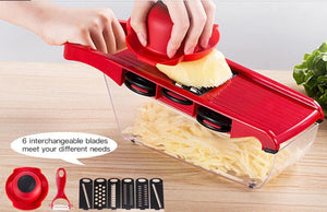 Stainless Steel 6 Blades Vegetable Slicer