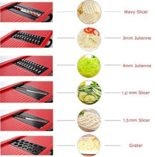 Load image into Gallery viewer, Stainless Steel 6 Blades Vegetable Slicer
