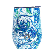 Load image into Gallery viewer, 12oz Insulated Wine Tumbler Glass (Venice Swirl)