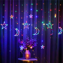 Load image into Gallery viewer, Moon Star Lamp String Xtmas Light Remote Control