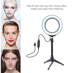 LED Dimmable USB Video Ring Light for Selfie & Photography