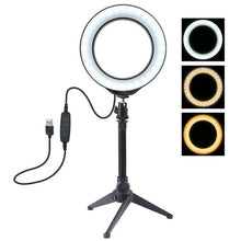 Load image into Gallery viewer, LED Dimmable USB Video Ring Light for Selfie & Photography