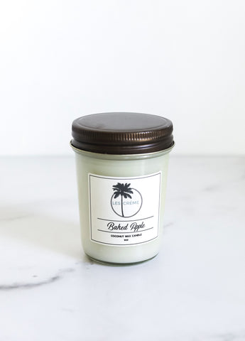 Baked Apple Scent Coconut Wax Candle - Going Off Grid
