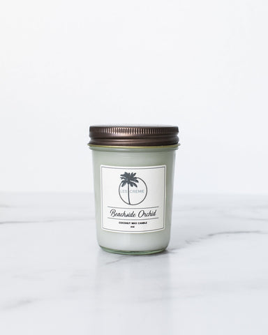 Beachside Orchid Scent Coconut Wax Candle - Going Off Grid