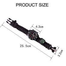 Load image into Gallery viewer, Para-cord Survival Bracelet - Going Off Grid