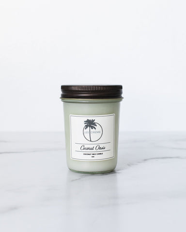 Coconut Oasis Scent Coconut Wax Candle - Going Off Grid