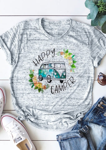 *New* Ladies Happy Camping T-Shirt