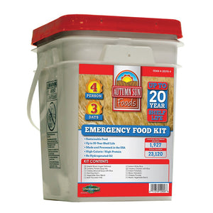 EMERGENCY FOOD - 3 DAY - FOUR PERSON - Going Off Grid